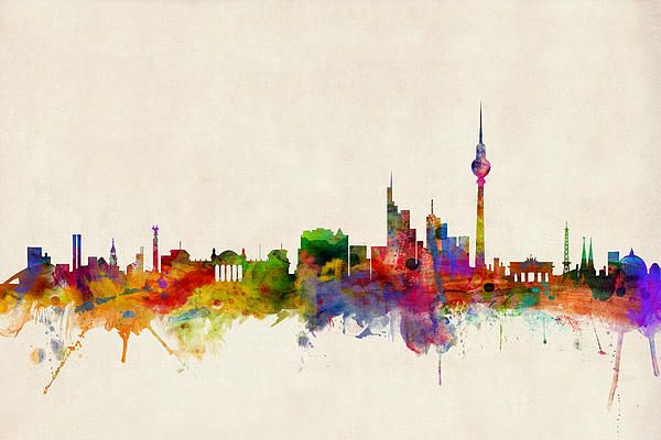 "This is going to be my first tattoo! ""My first love and my last"" Berlin Skyline /// Michael Tompsett"