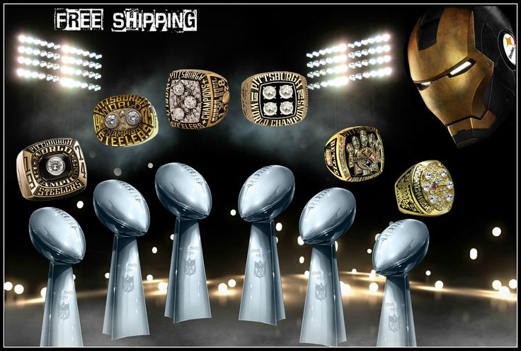 1974 1975 1978 1979 2005 2008 Pittsburgh Steelers Super Bowl Ring Set