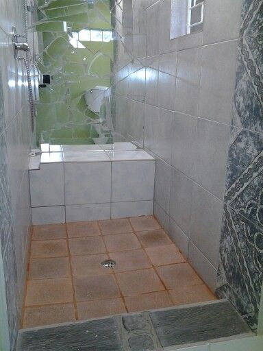 Mosaic wall in shower