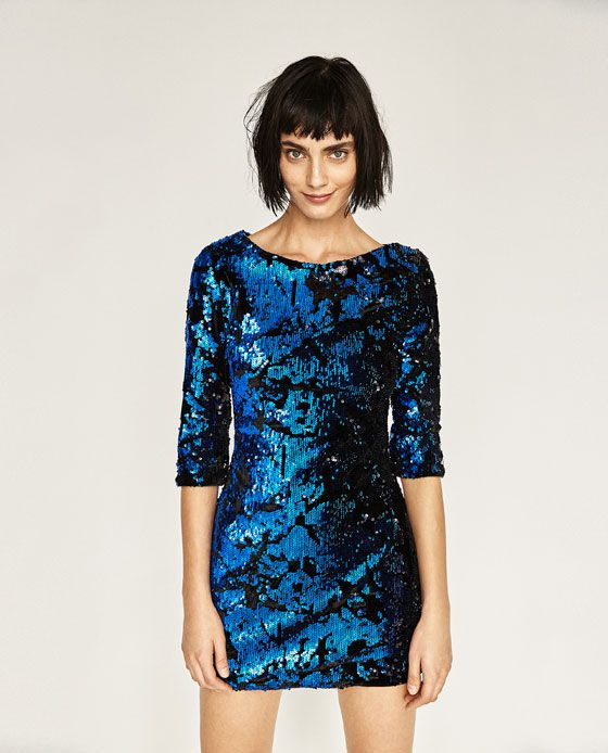 Image 1 of SHORT SEQUIN DRESS from Zara