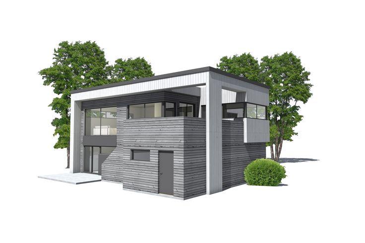 Funkishus U-580. Funkishus og moderne boliger fra Urbanhus, tilpasset dine individuelle behov. Arkitekttegnet og spesialtilpassede hus.