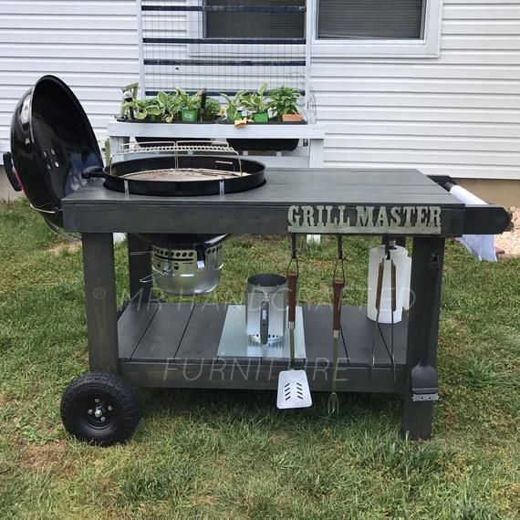 Local Pick Up Only Weber Grill Table Etsy In 2020 Weber Grill Table Grill Table Bbq Table