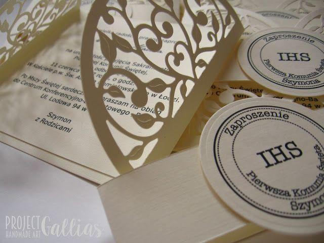 ProjectGallias: #projectgallias zaproszenia komunijne, pierwsza komunia święta, first holly communion invitations, 100% handmade