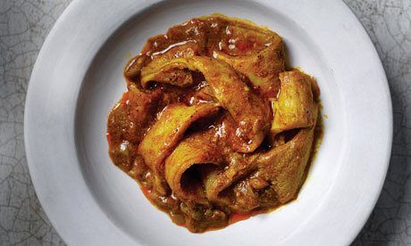 Curried tripe
