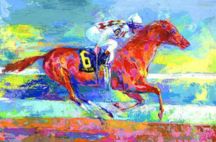 """Limited Edition Print """"Funny Cide"""" by LeRoy Neiman"""