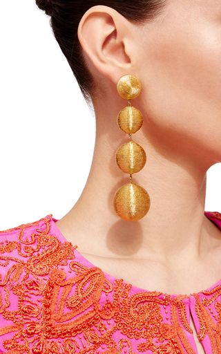 These lightweight **Rebecca de Ravenel** earrings are handcrafted in India in a dropped style fit for evenings.