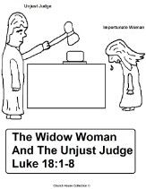 parable of the importunate woman and unjust judge coloring page