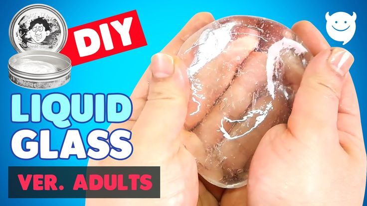 DIY liquid glass putty (Borax) Clear Slime !!