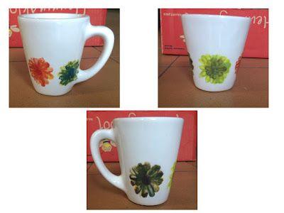Finger paint art on a mug