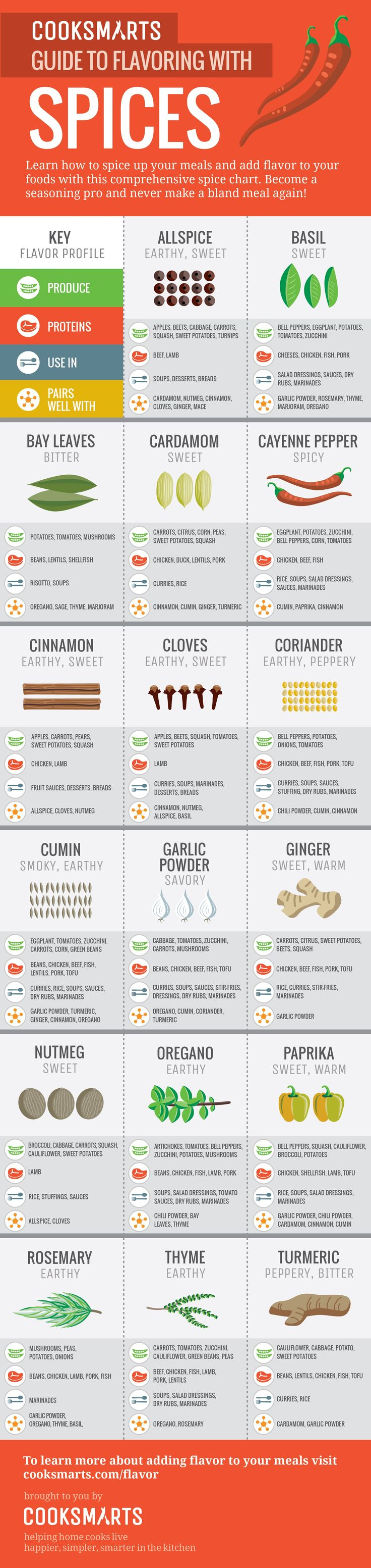 Infographic: The Ultimate Guide To Cooking With Spices - DesignTAXI.com
