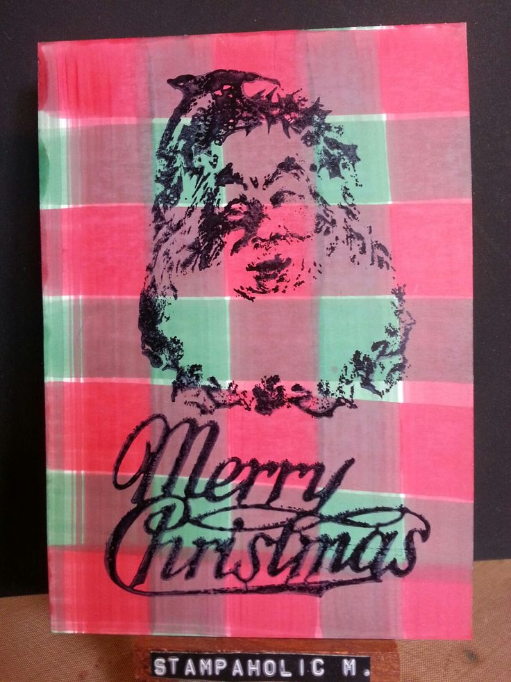 Merry christmas alcohol ink card