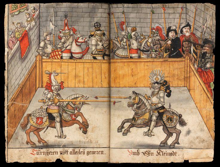 Leaf from the German manuscript, Das Hausbuch der Herren von Hallwil