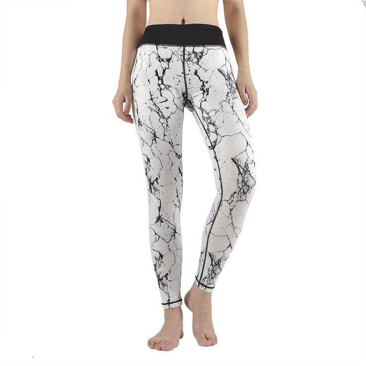 Women Sexy Yoga Sports Long Pants Compression Leggings Gym Skinny Fitness Sportswear women's running trousers #Affiliate