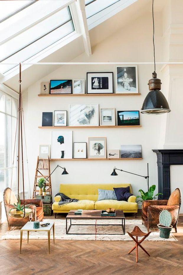 sala de estar ambientación retro
