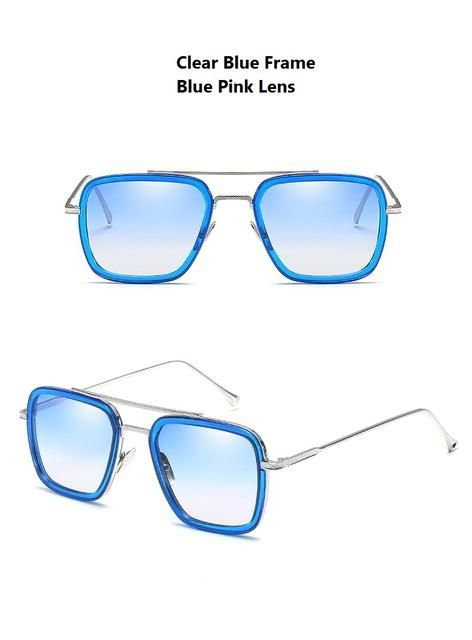 9f05abbf3c9 Avengers Infinity War Tony Stark Sunglasses Luxury Brand Iron Man Glasses  Rectangle Vintage Superhero Sun Glasses Clear for Men