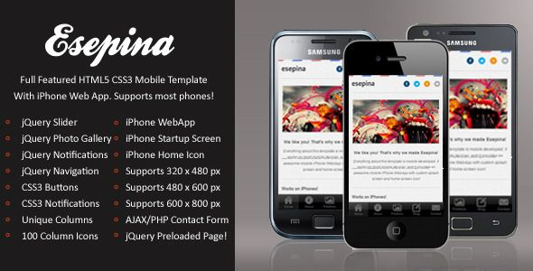 Esepina Mobile | HTML5 & CSS3 And iWebApp