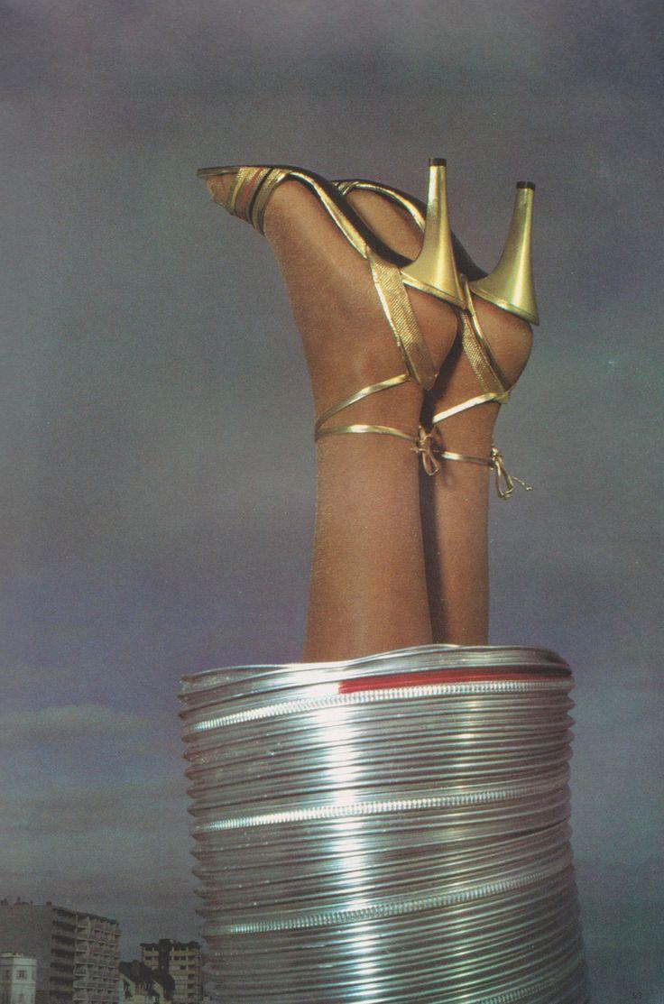 Charles Jourdan Vogue Paris, December 1980 - January 1981 Photographed by M. Pahin