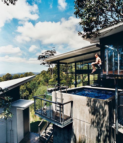 love everything about this. Hillside Family Home in Australia