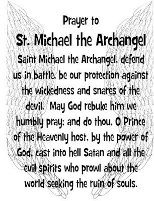 Praying with the Angels: Free printable prayer cards with Prayer to St. Michael the Archangel