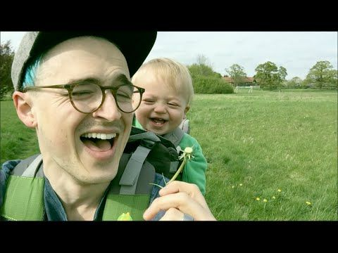 The Simple Joys Of Being A Dad! Baby's First Experience With A Dandelion!!