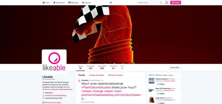 #LikeableDesign is ook op #Twitter te vinden, kijk maar eens op www.twitter.com/LikeableDesign