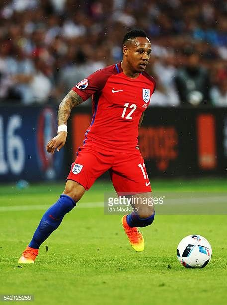 Nathaniel Clyne of England controls the ball during the UEFA EURO 2016 Group B match between Slovakia v England at Stade GeoffroyGuichard on June 20...