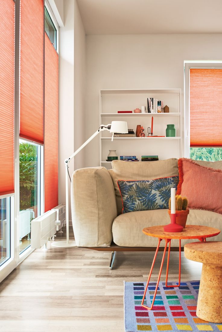 Coral Duette blinds from Apollo Blinds