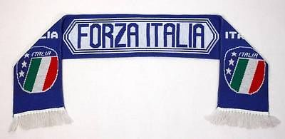 Forza Italia Soccer Political Party Blue White Acrylic Warm Scarf | eBay