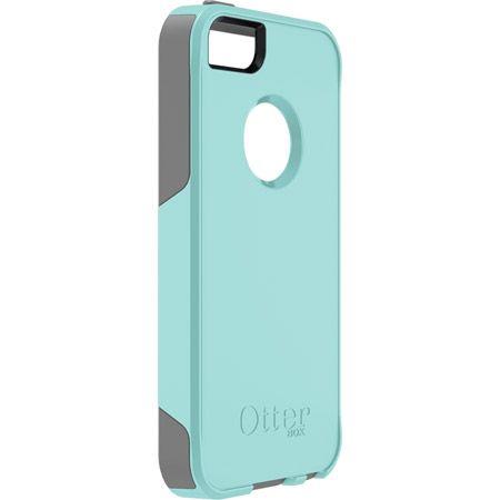 Custom iPhone 5 case- OtterBox. Gunmetal grey and aqua