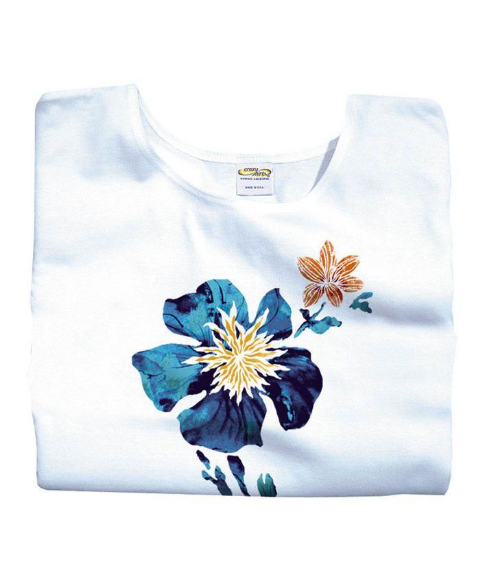 Dreamer - White Scoop-Neck T-Shirt