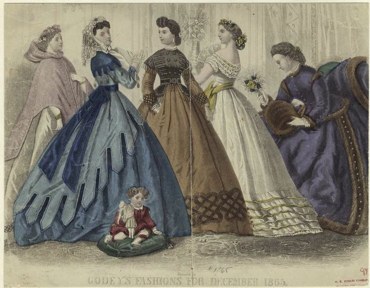 Yes to these dresses! Holiday-ready clothing, highlighted in these December fashion spreads from the mid-to-late 1800s.