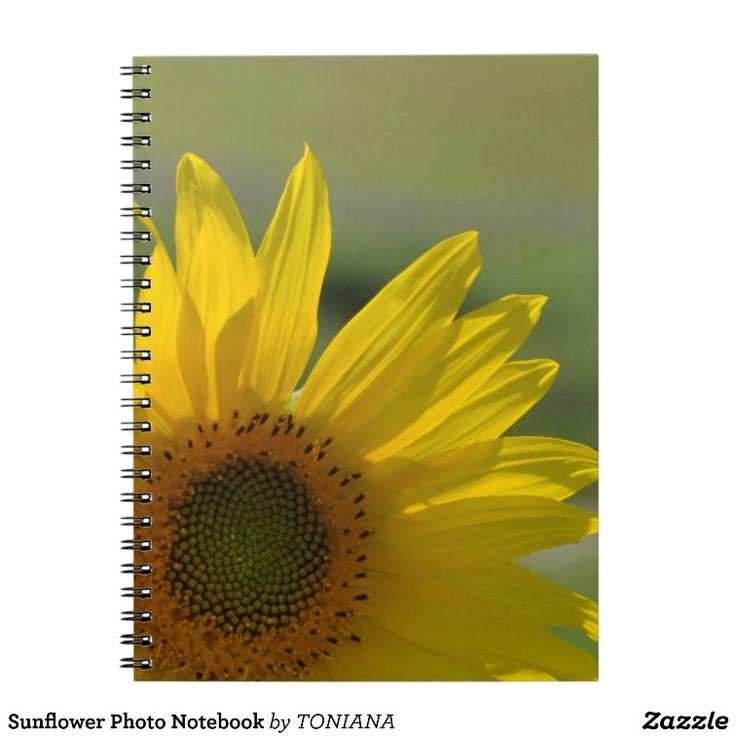Sunflower Photo Notebook