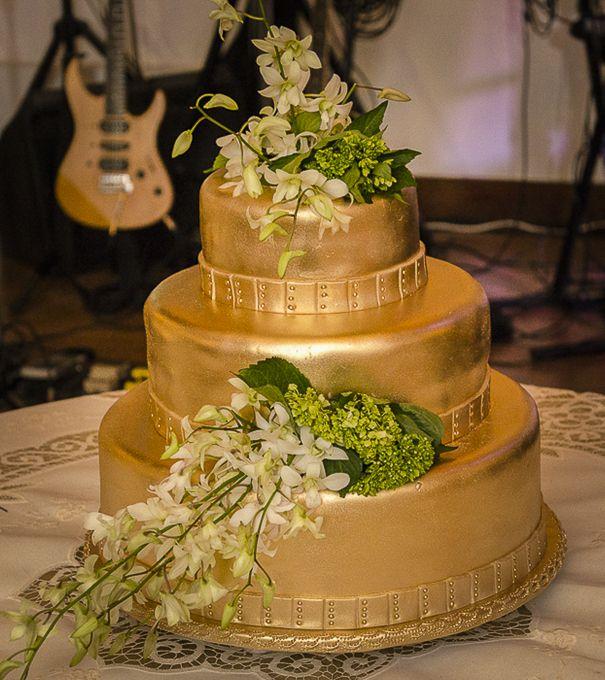 Color diferente para la torta de la boda