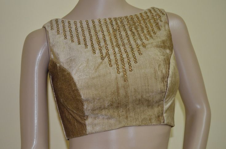 Subtle Golden color velvet  blouse by Sravams on Etsy, $98.00
