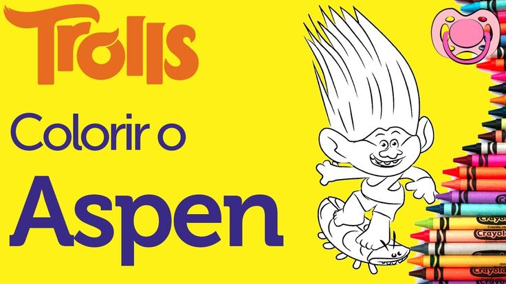 Trolls - Colorir o Aspen Heitz