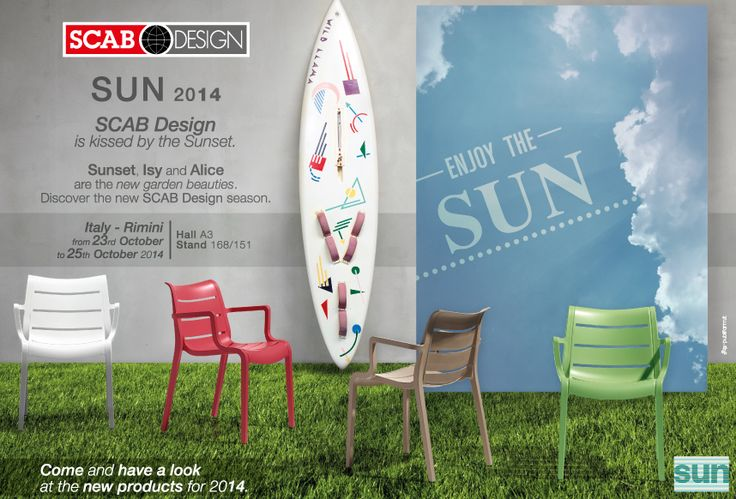SCAB DESIGN is waiting for you @ SUN Rimini - from 23 to 25 of October