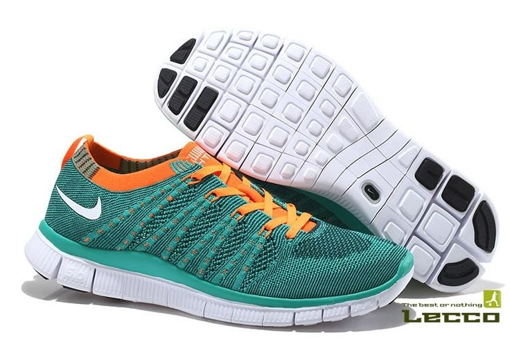 Женские кроссовки Nike Free 5.0 Flyknit Turquoise Orange