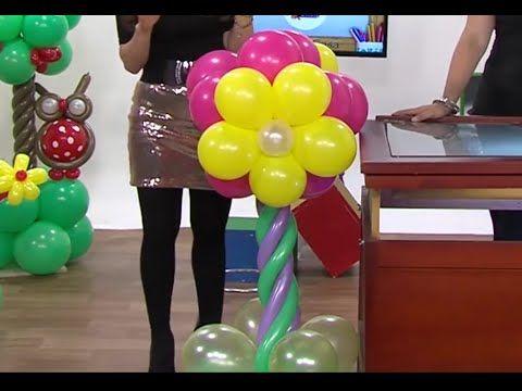 globoflexia como hacer una columna de flores con globos hogar tv por juan gonzalo