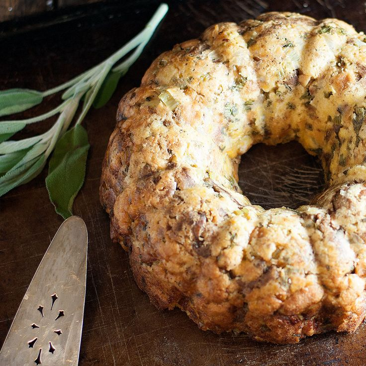 Stuffing In A Bundt Pan - a great way to serve this Thanksgiving staple!