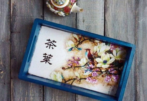 Chinese Tray tea serving tray small wooden tray от ArtDecoMoldova