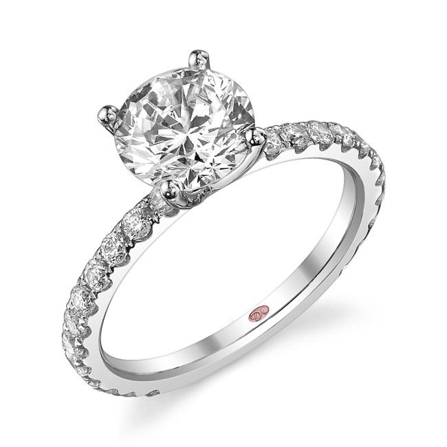 Amazing Demarco Heirloom Diamond Engagement Ring DW Available in White Gold KT and Platinum