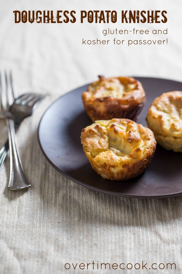 Easy to make and freezer-friendly, these doughless potato knishes for Passover are a great side dish!