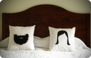 His/Her Pillows by freshlypicked: $80 #Pillows #Wedding #His_Her_Pillows #freshlypicked