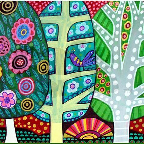 Landscape by Heather Galler Throw Blanket on CafePress.com