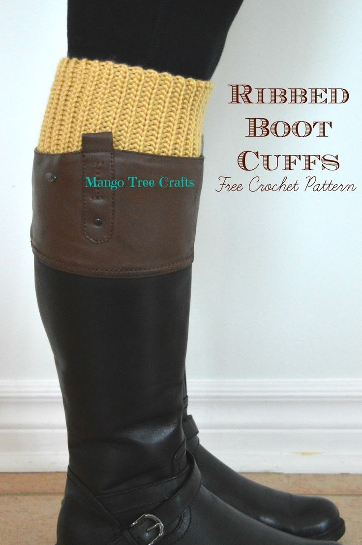 81 best knit boot cuffs images on pinterest knitting ribbed boot cuffs free crochet pattern bankloansurffo Images