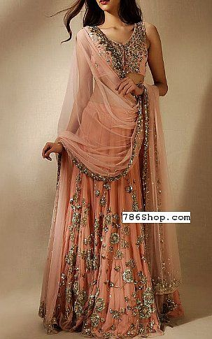 385b7973de0ad Peach Chiffon Suit | Buy Pakistani Designer Fashion Dress in 2019 ...