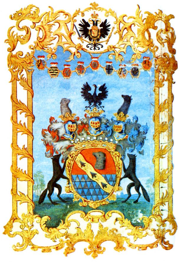 Austrian Grant of Nobility to the rank of Holy Roman Count to Alexander Stroganoff, by Holy Roman Emperor Francis I, 29 Juin 1761.