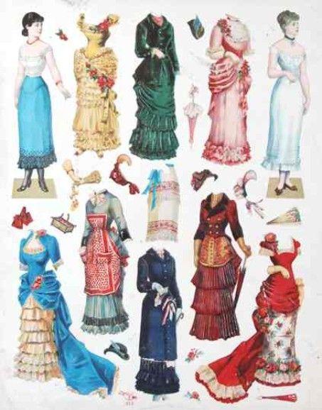 Antique German Paper Doll   Gabi's Paper Dolls