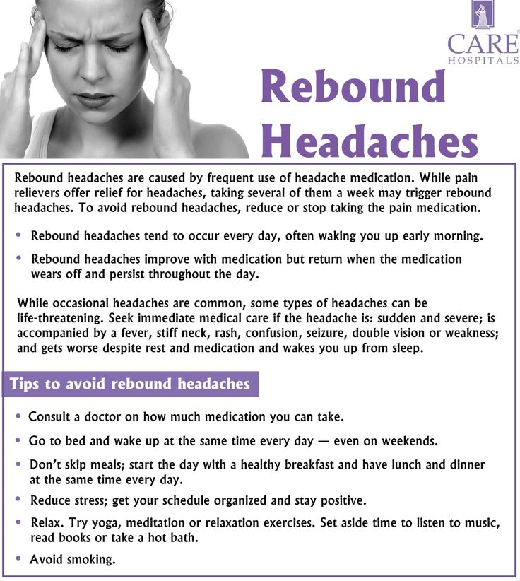 Rebound headaches are caused by taking the pain medications frequently. Here I am sharing you the tips to avoid Rebound headaches. Please consult a general physician before taking any medications.