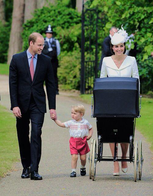 Arriving to the christening of Princess Charlotte Elizabeth Diana, July 5, 2015.